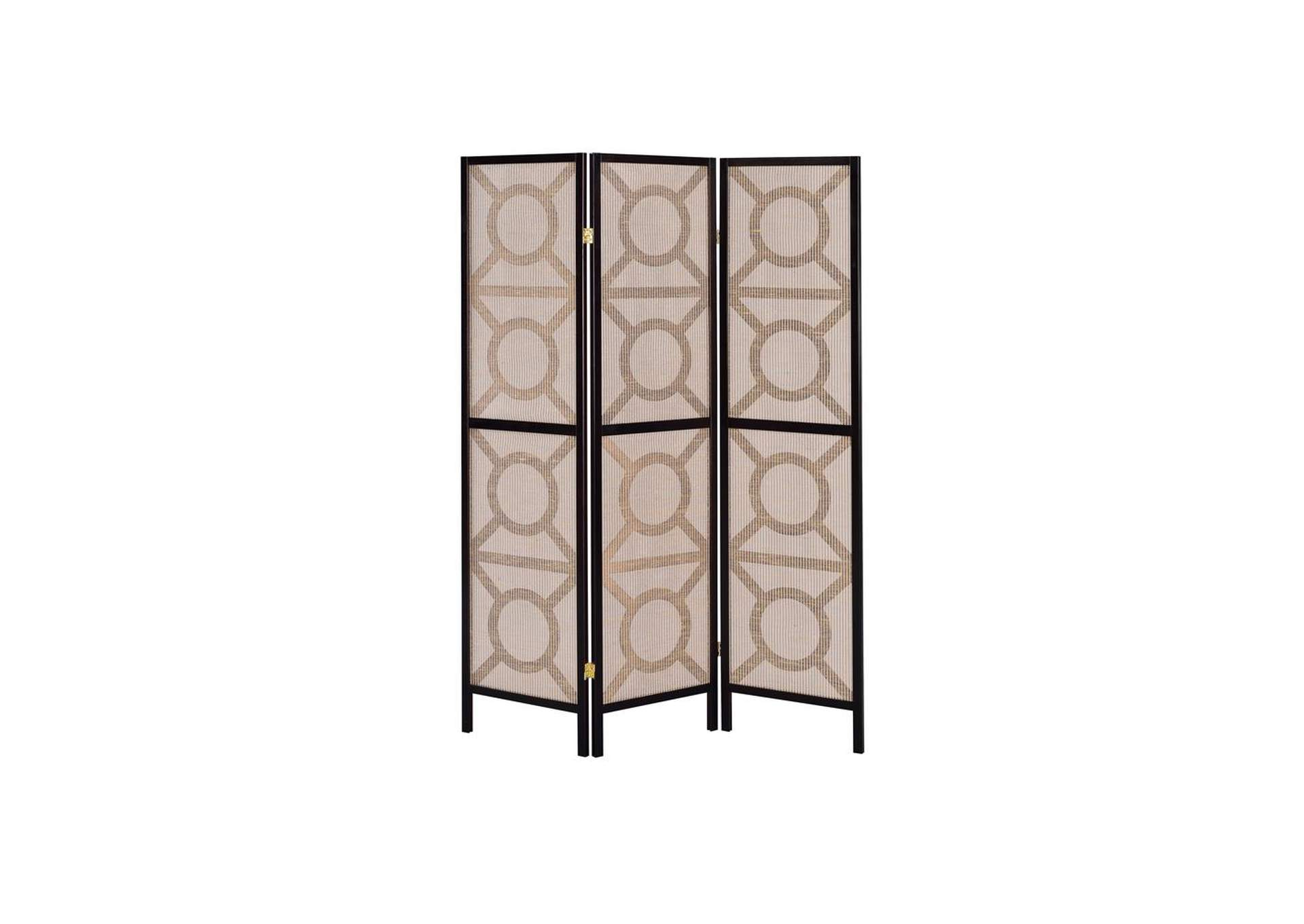 Cappuccino Folding Screen,Coaster Furniture