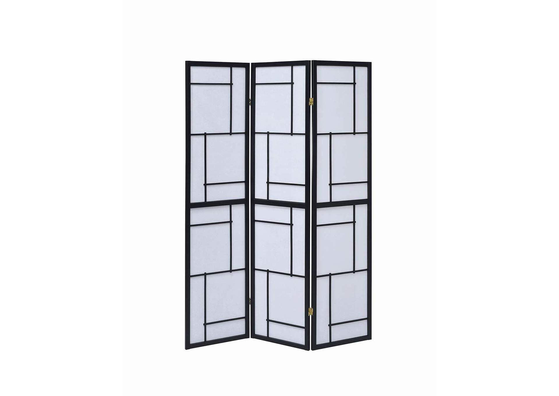 Black Three-Panel Screen,Coaster Furniture