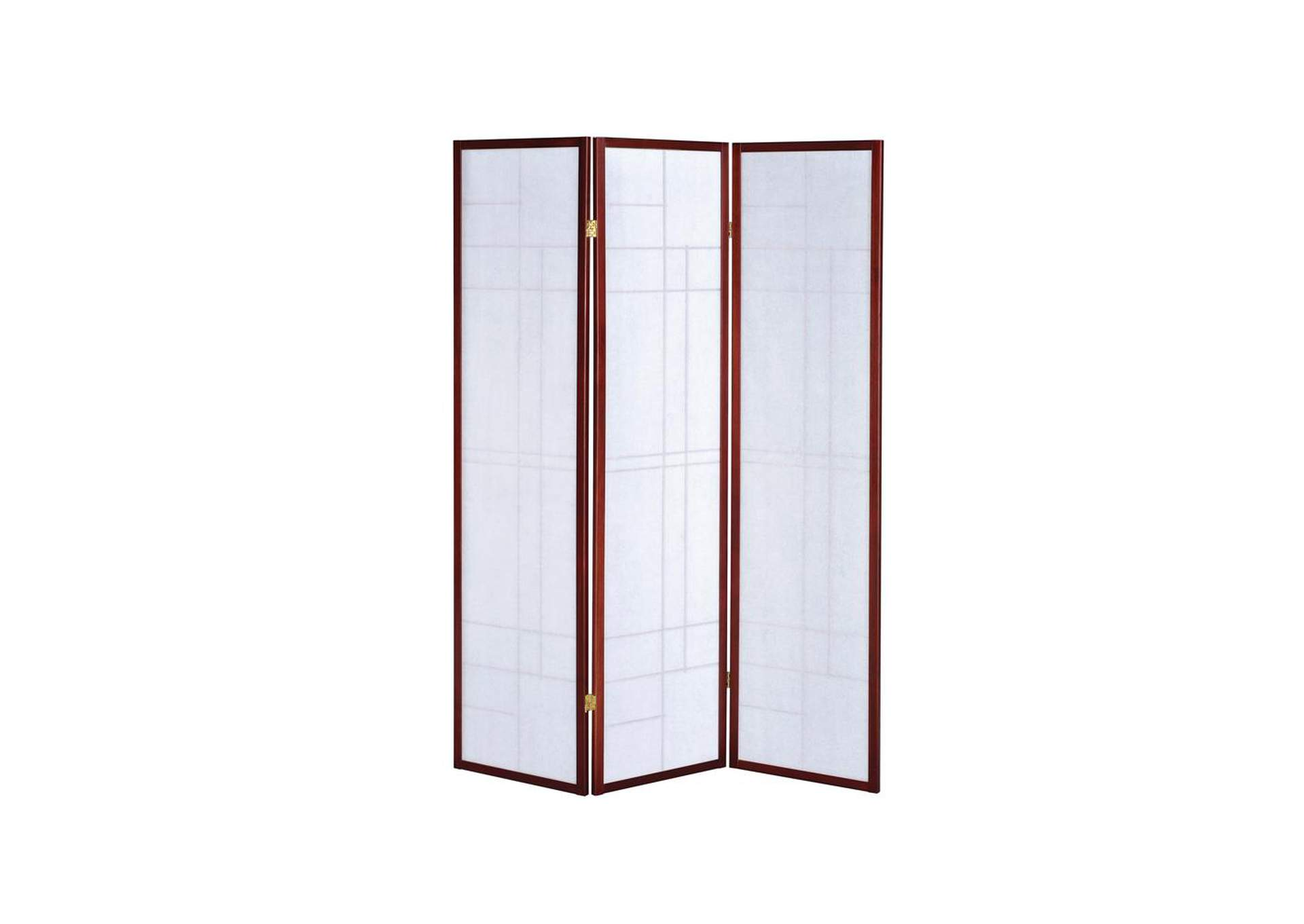 Brown Red Three-Panel Screen,Coaster Furniture