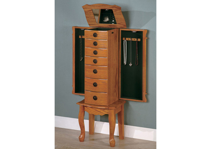 Oak Jewelry Armoire,Coaster Furniture