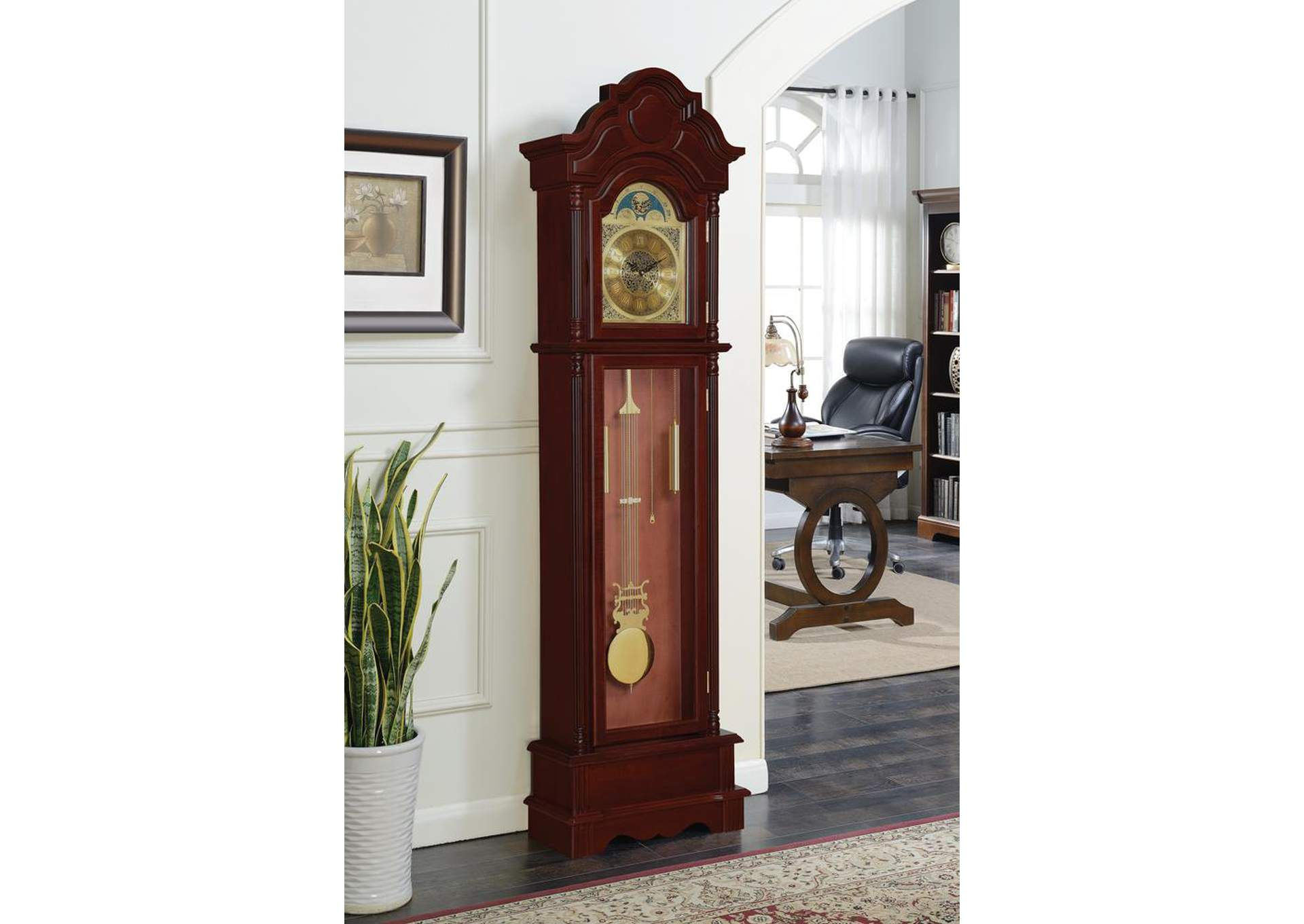 Cherry Grandfather Clock,Coaster Furniture