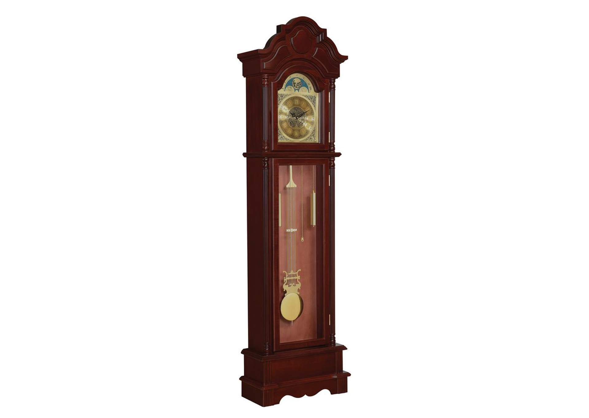 Brown Red Grandfather Clock,Coaster Furniture