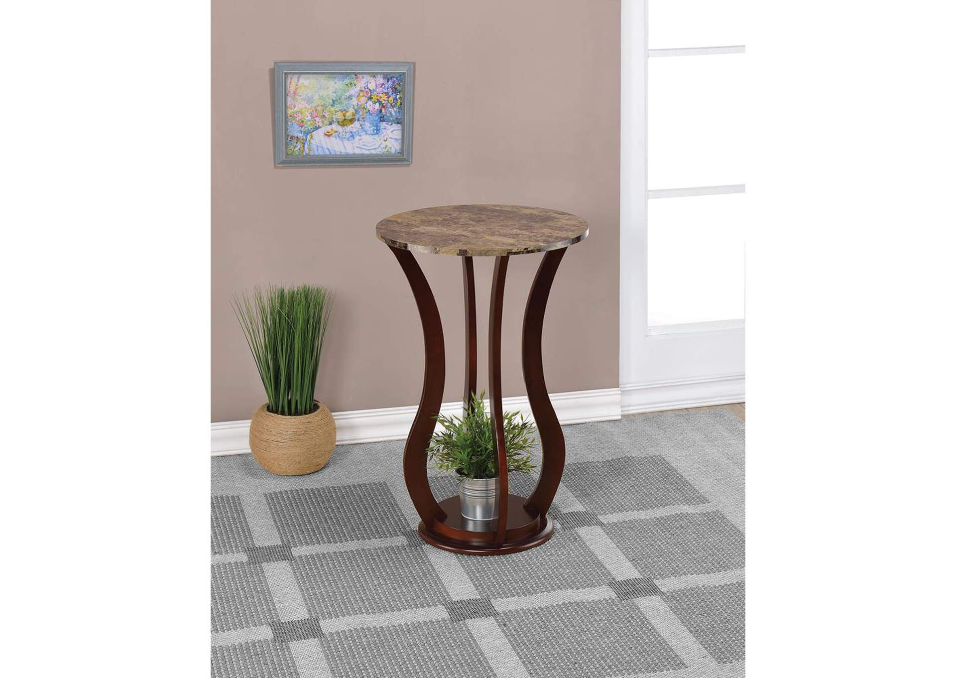 Cherry Accent Table,Coaster Furniture
