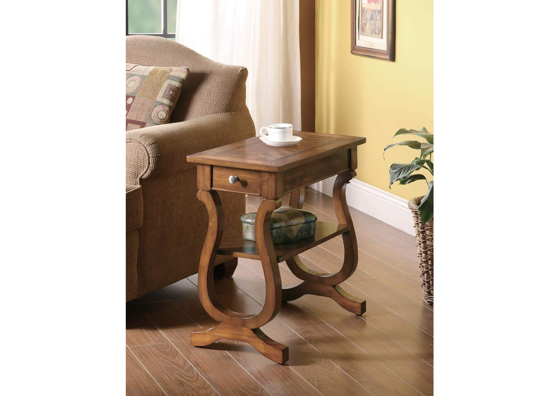 Warm Brown Accent Table,Coaster Furniture