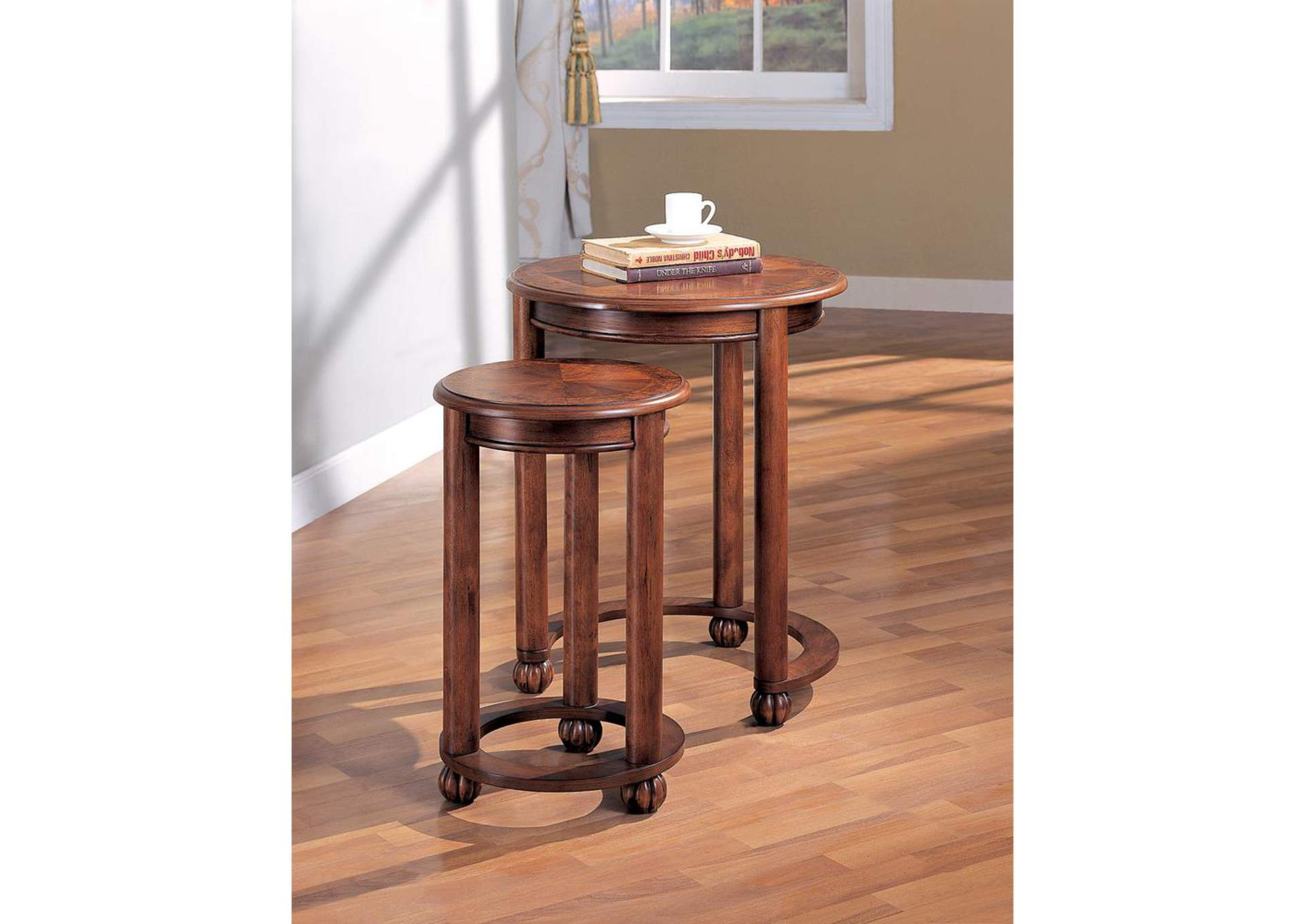 Warm Amber Nesting Table,Coaster Furniture