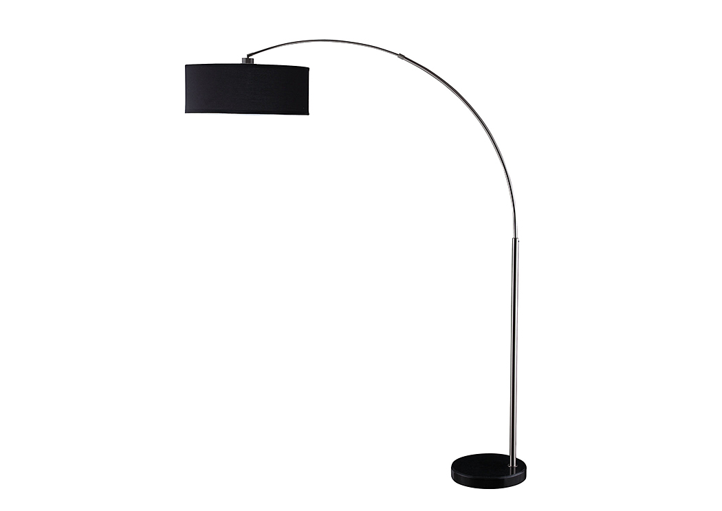 Black Chrome Floor Lamp,Coaster Furniture