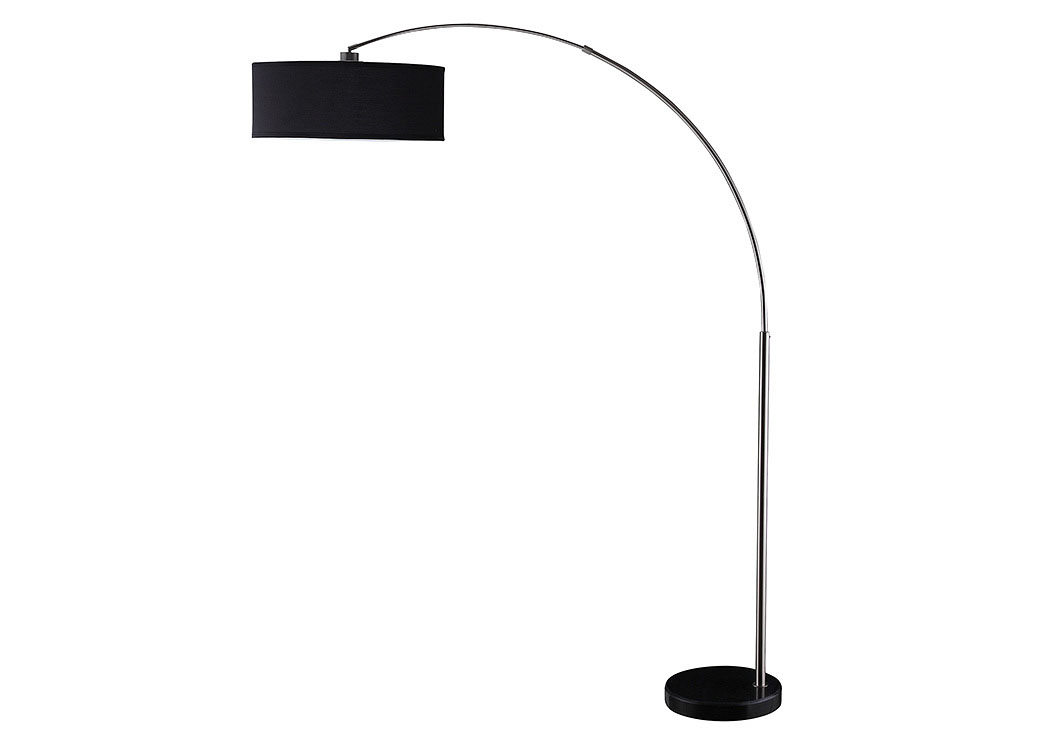 Chrome Contemporary Black and Chrome Floor Lamp,Coaster Furniture