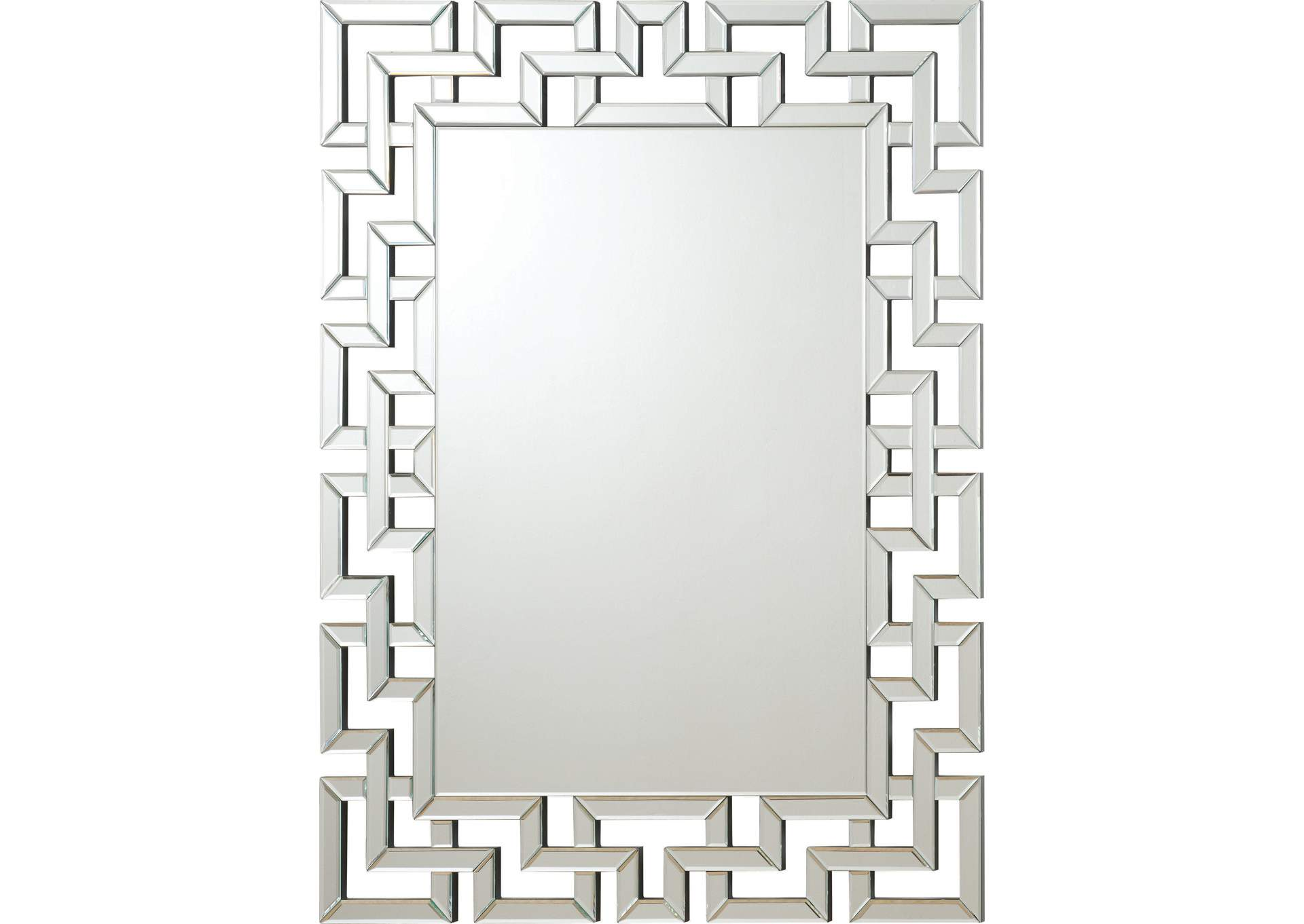 Greek Key Frameless Mirror,Coaster Furniture