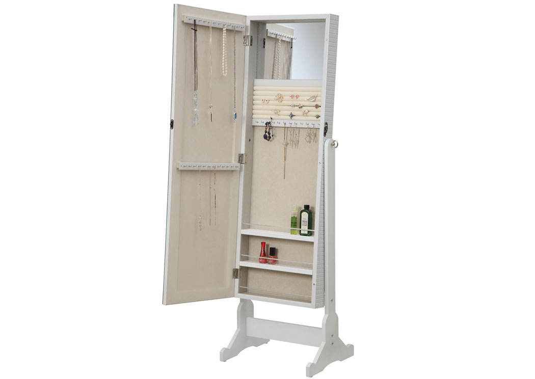 Charmant White Jewelry Armoire