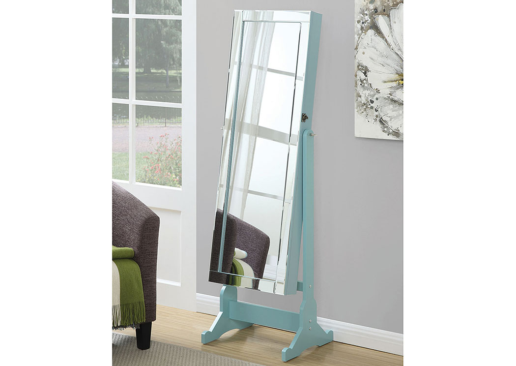 Aqua Jewelry Armoire,Coaster Furniture