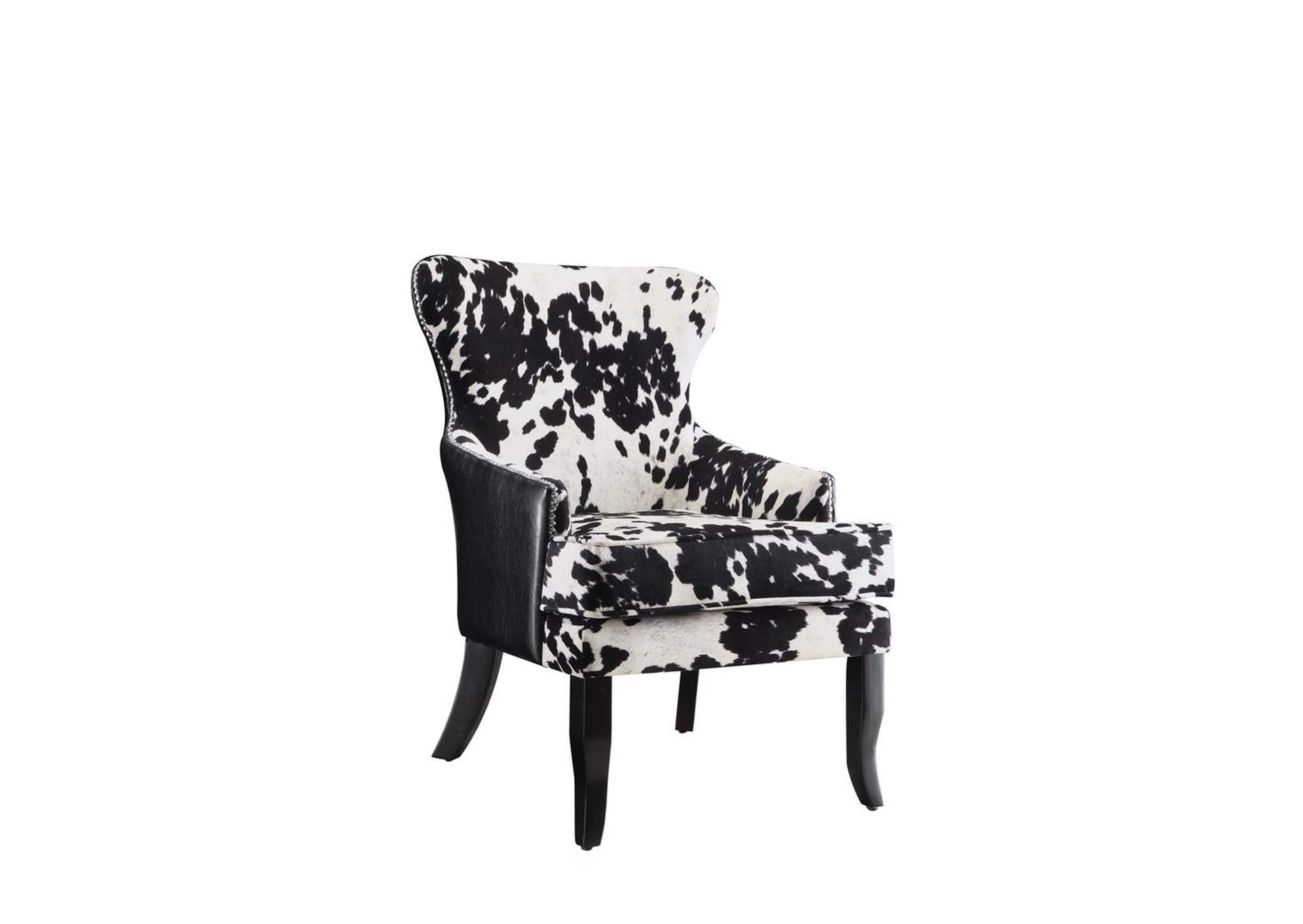 Black/White Accent Chair,Coaster Furniture
