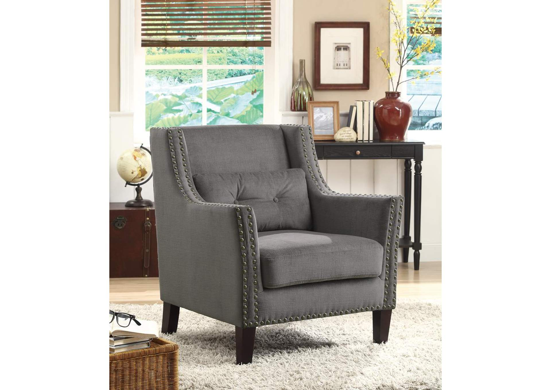 Gray Accent Chair,Coaster Furniture