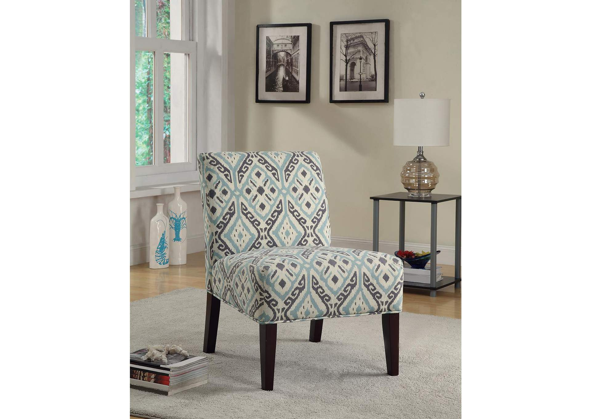 Beige/Turquoise Accent Chair,Coaster Furniture