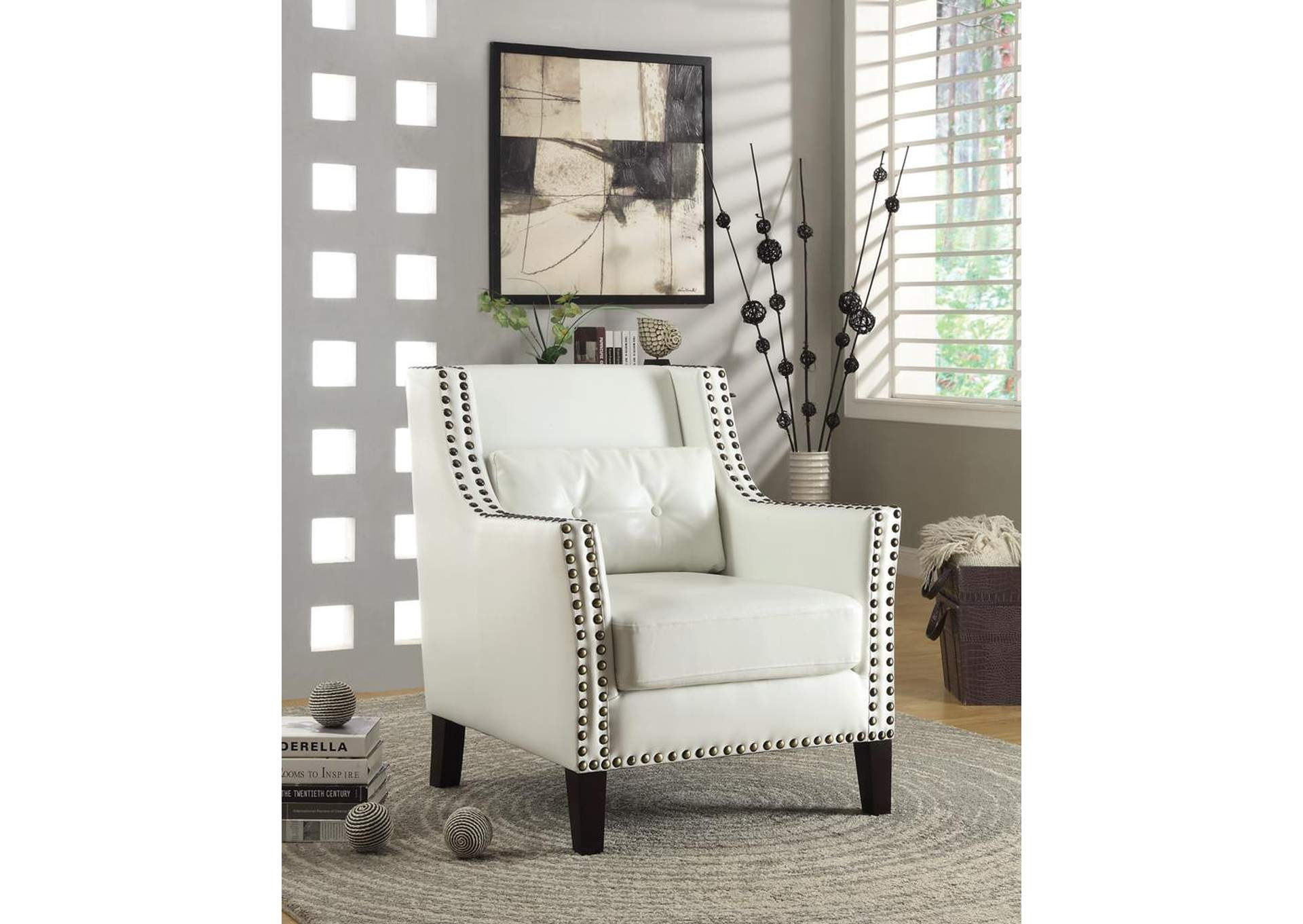 White Accent Chair,Coaster Furniture