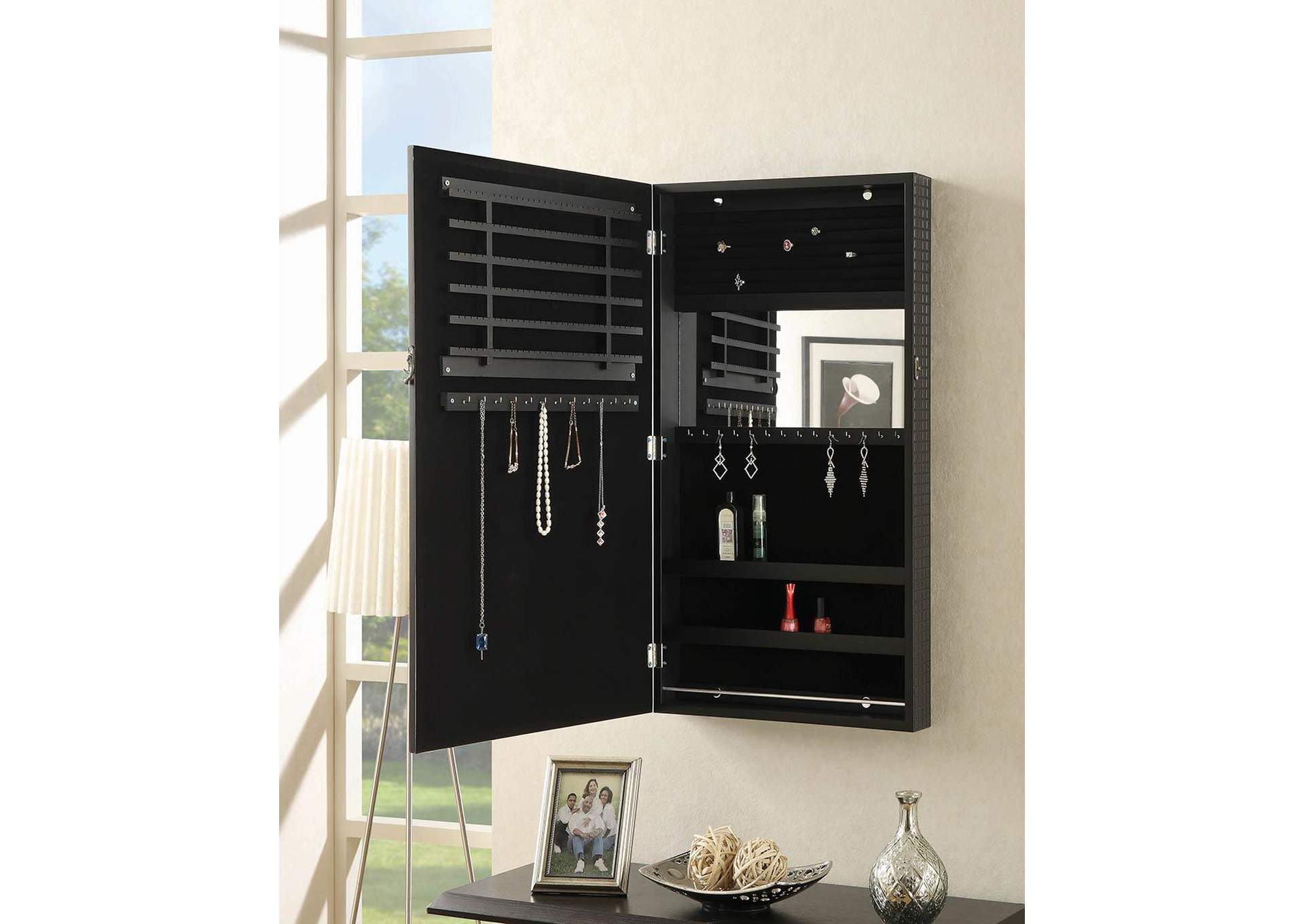 Black Jewelry Armoire,Coaster Furniture