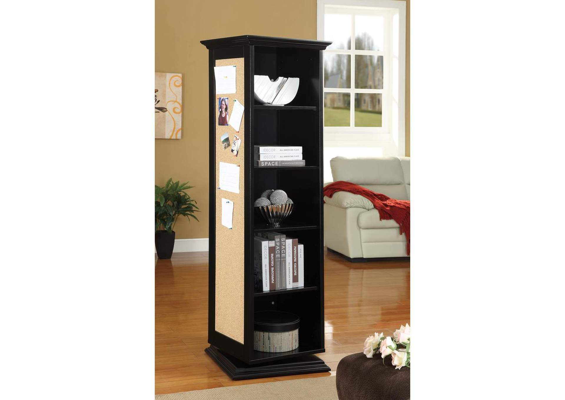 Black Swivel Cabinet,Coaster Furniture
