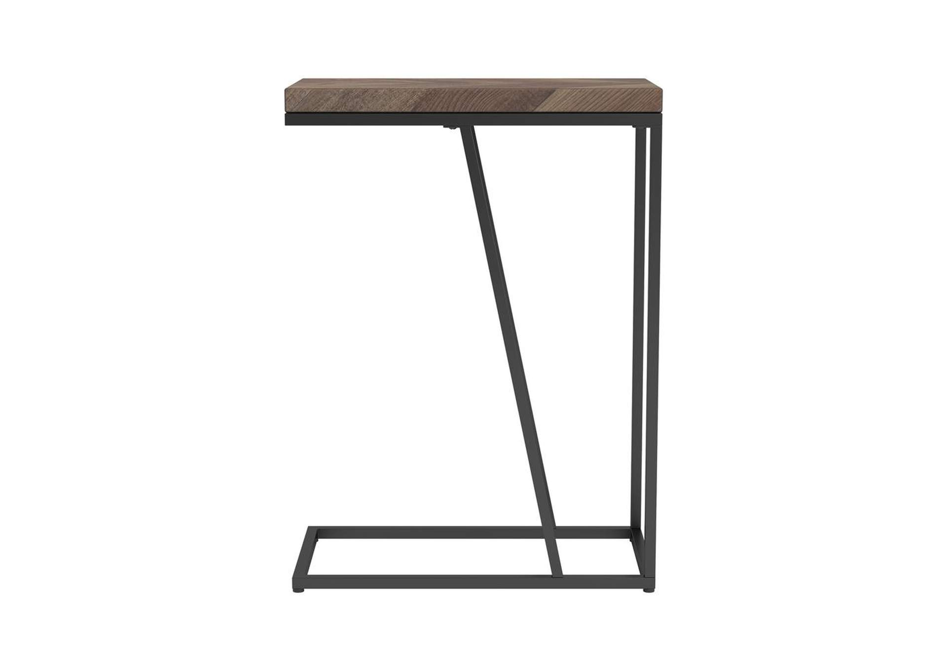 Chevron Brown Accent Table,Coaster Furniture