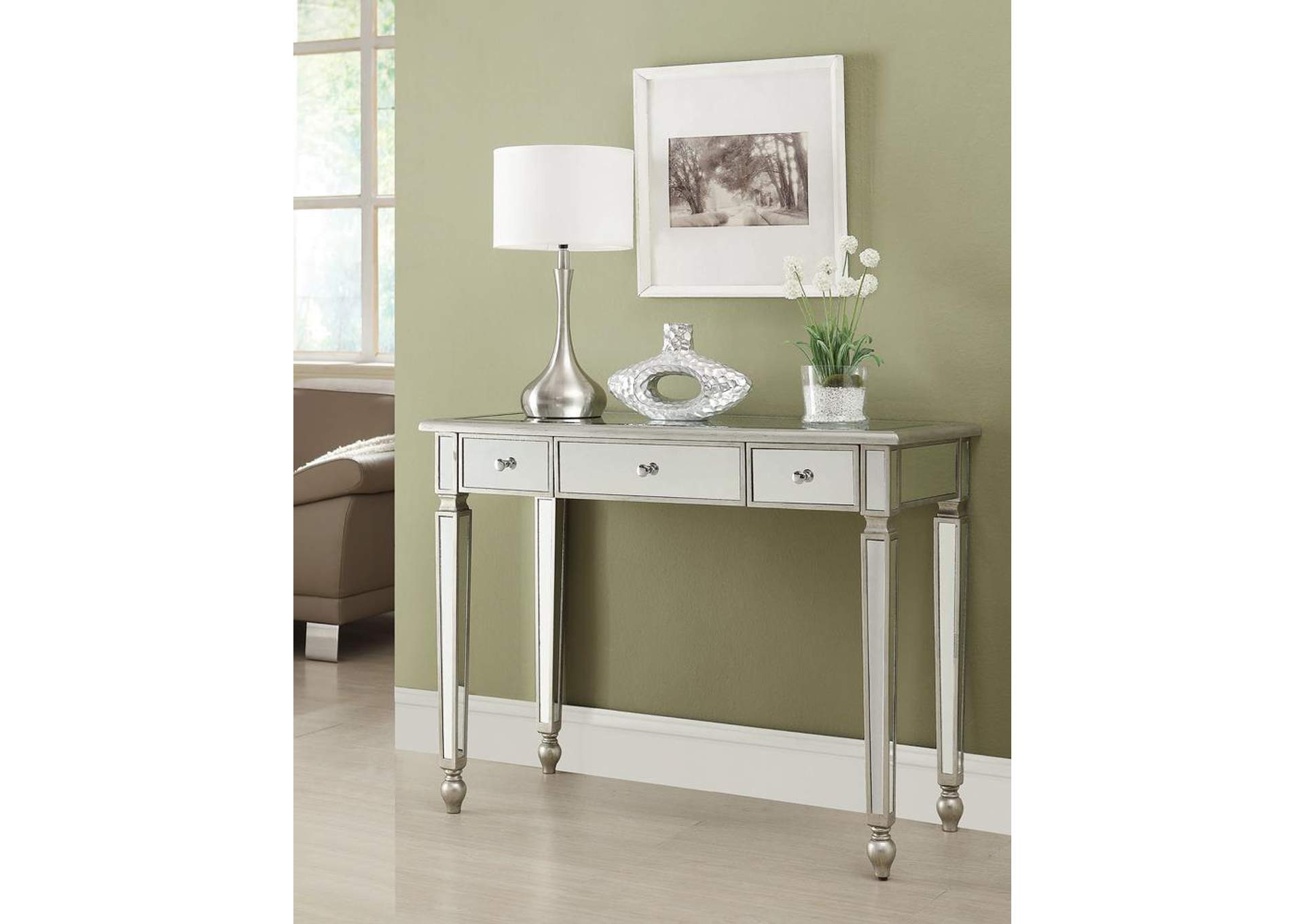 Antique Silver Console Table,Coaster Furniture