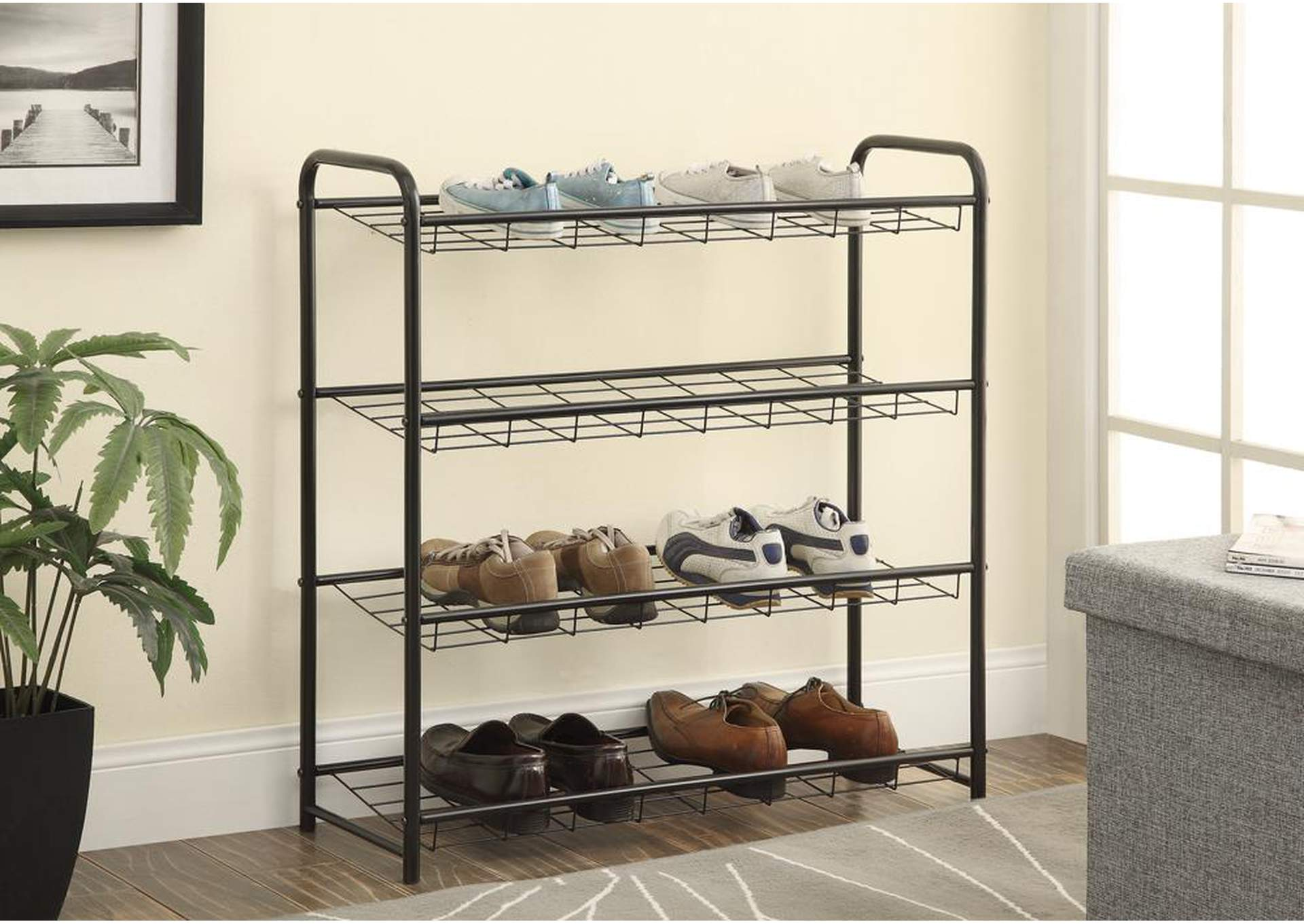 Black Shoe Rack,Coaster Furniture