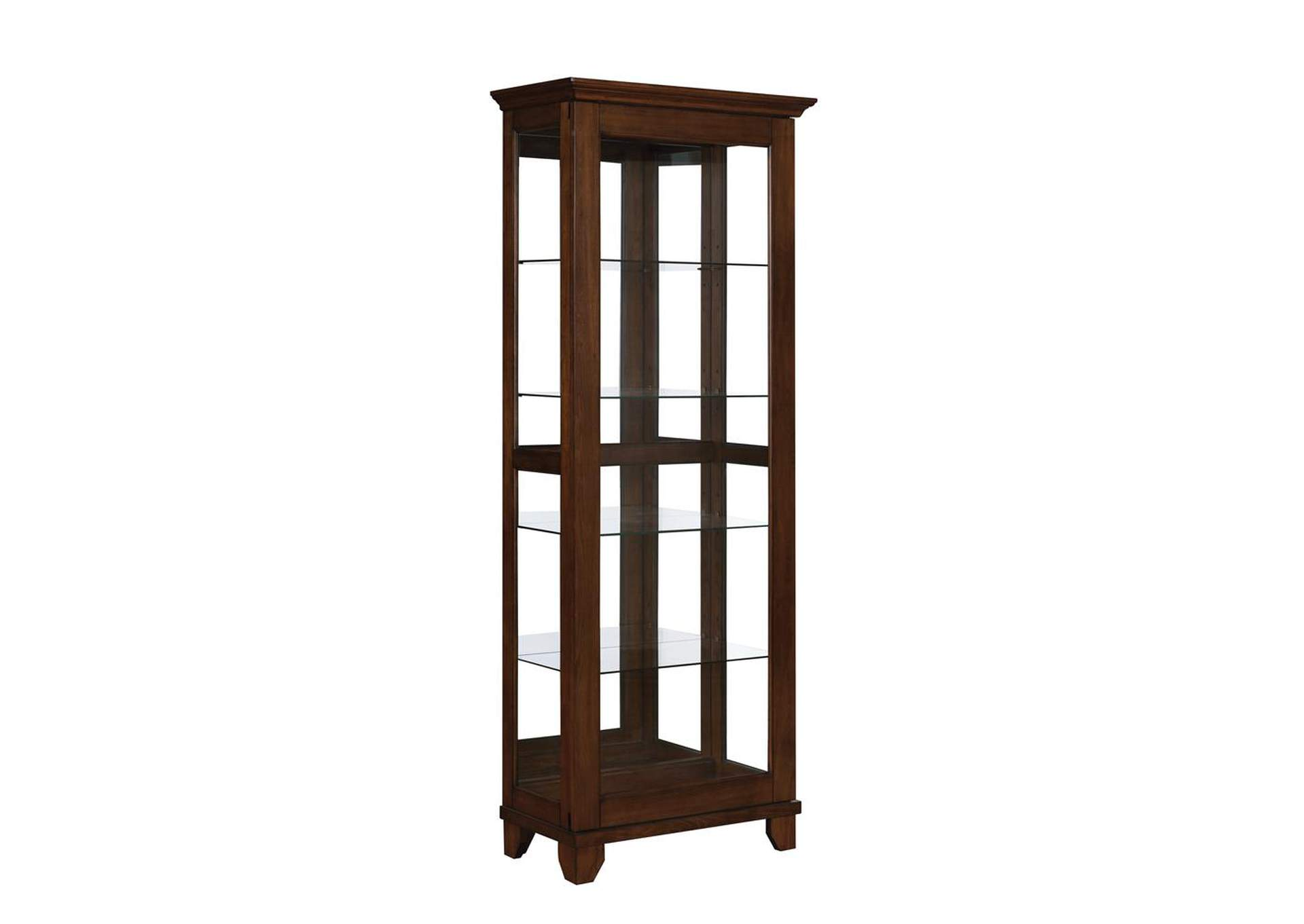 Cedar Casual Warm Brown Curio Cabinet,Coaster Furniture