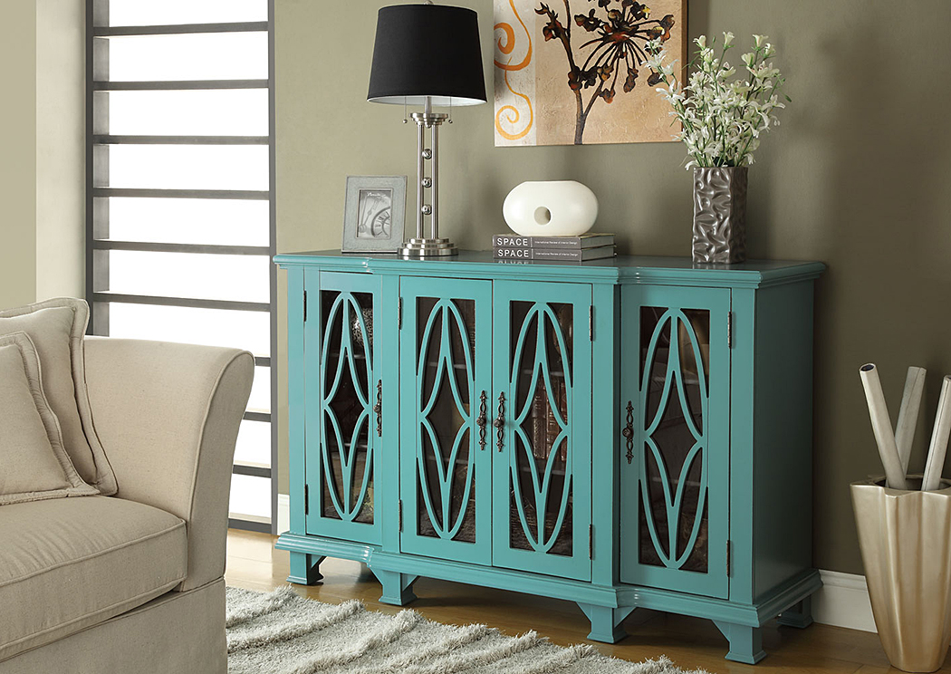 Blue Accent Cabinet,Coaster Furniture