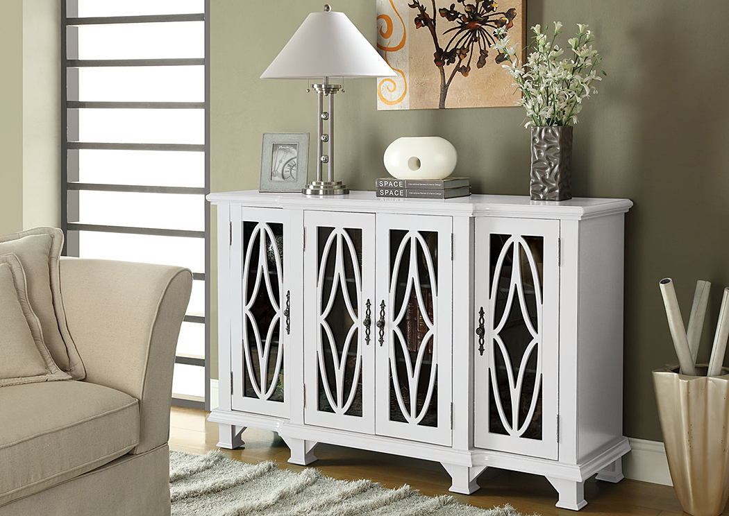 White Accent Cabinet,Coaster Furniture