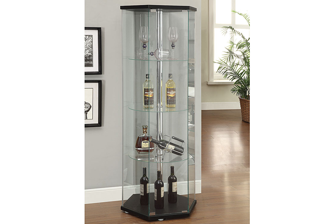 black curio cabinet overstock furniture langley park catonsville 12360