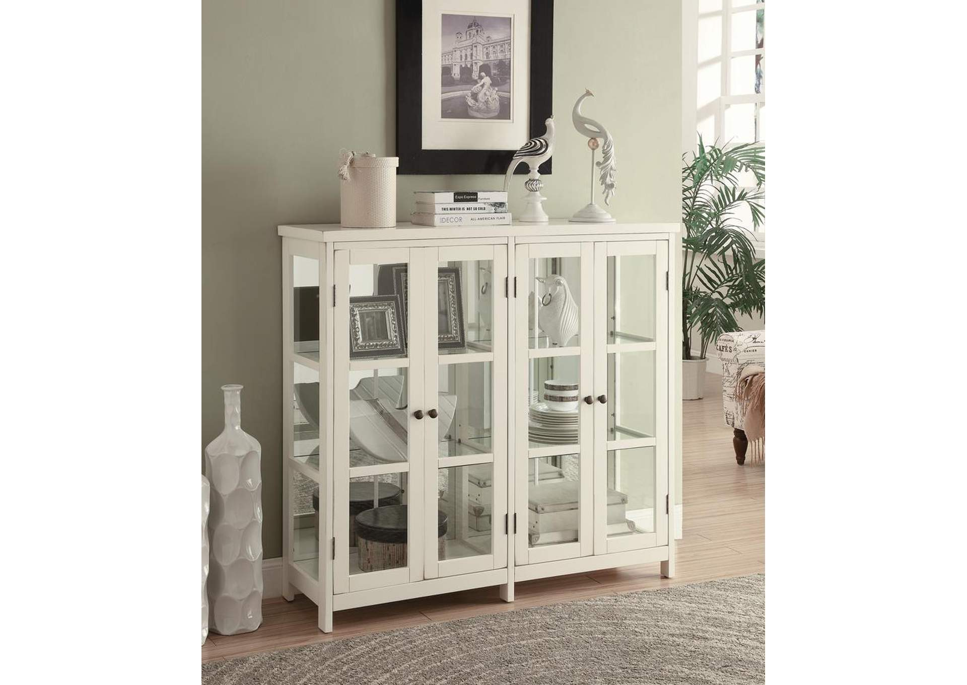 Off White Transitional White Accent Cabinet,Coaster Furniture