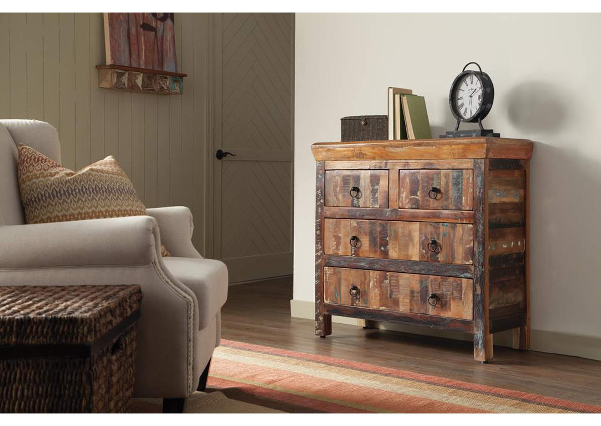 Reclaimed Wood Accent Cabinet,Coaster Furniture