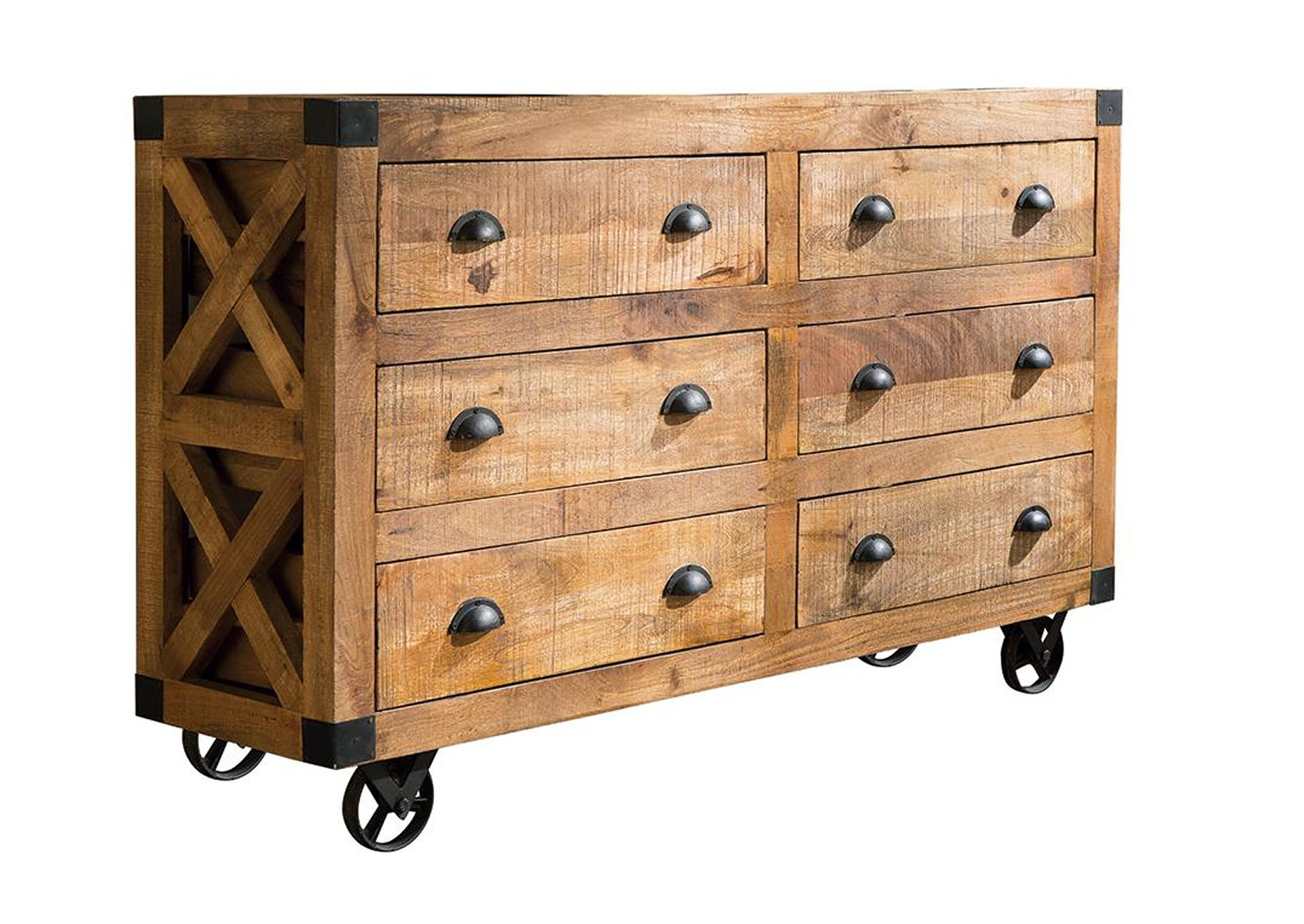 Rustic Six-Drawer Accent Cabinet,Coaster Furniture