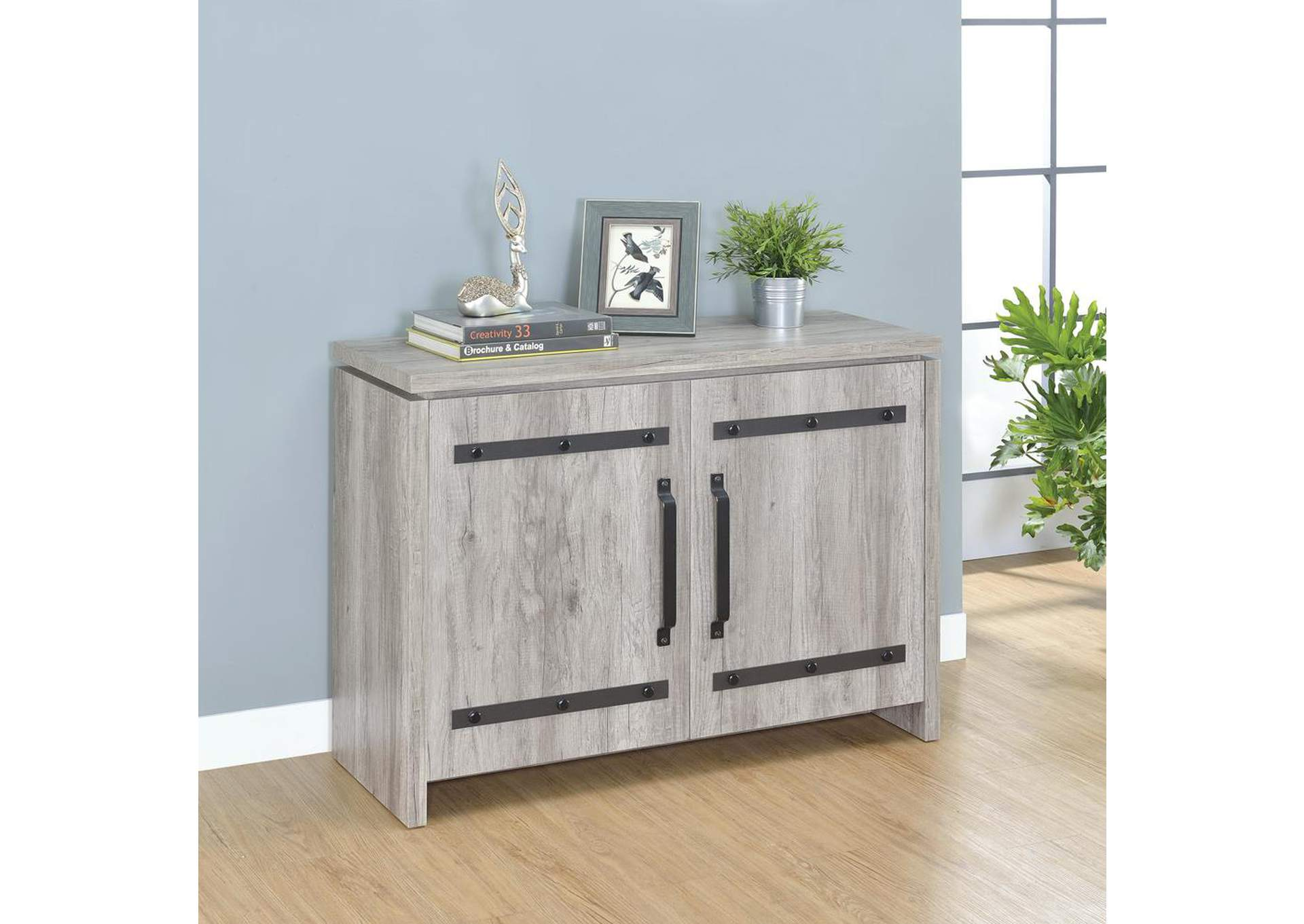 Rustic Grey Accent Cabinet,Coaster Furniture