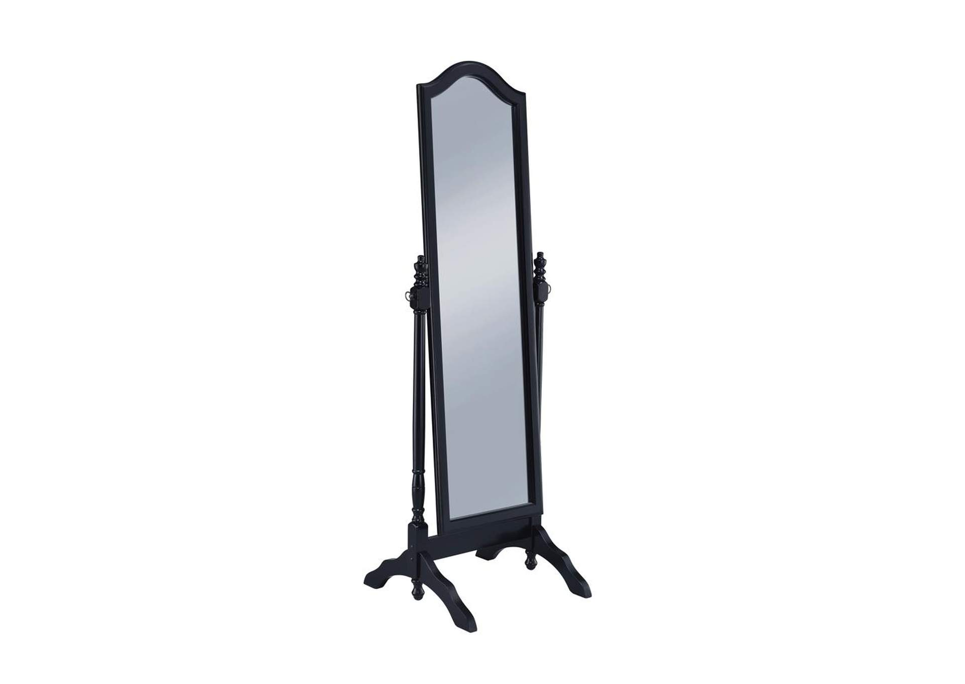 Black Cheval Mirror,Coaster Furniture