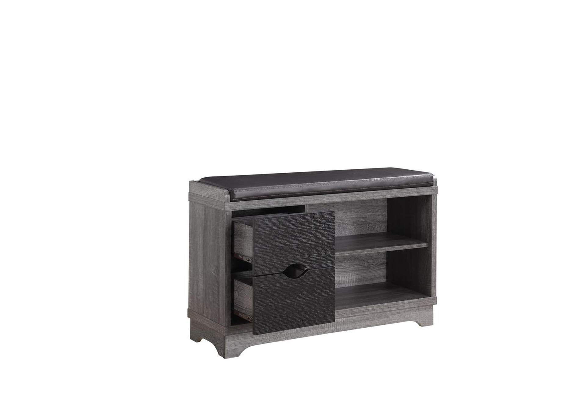 Stewart Williams Furniture Rustic Distressed Grey Shoe Cabinet