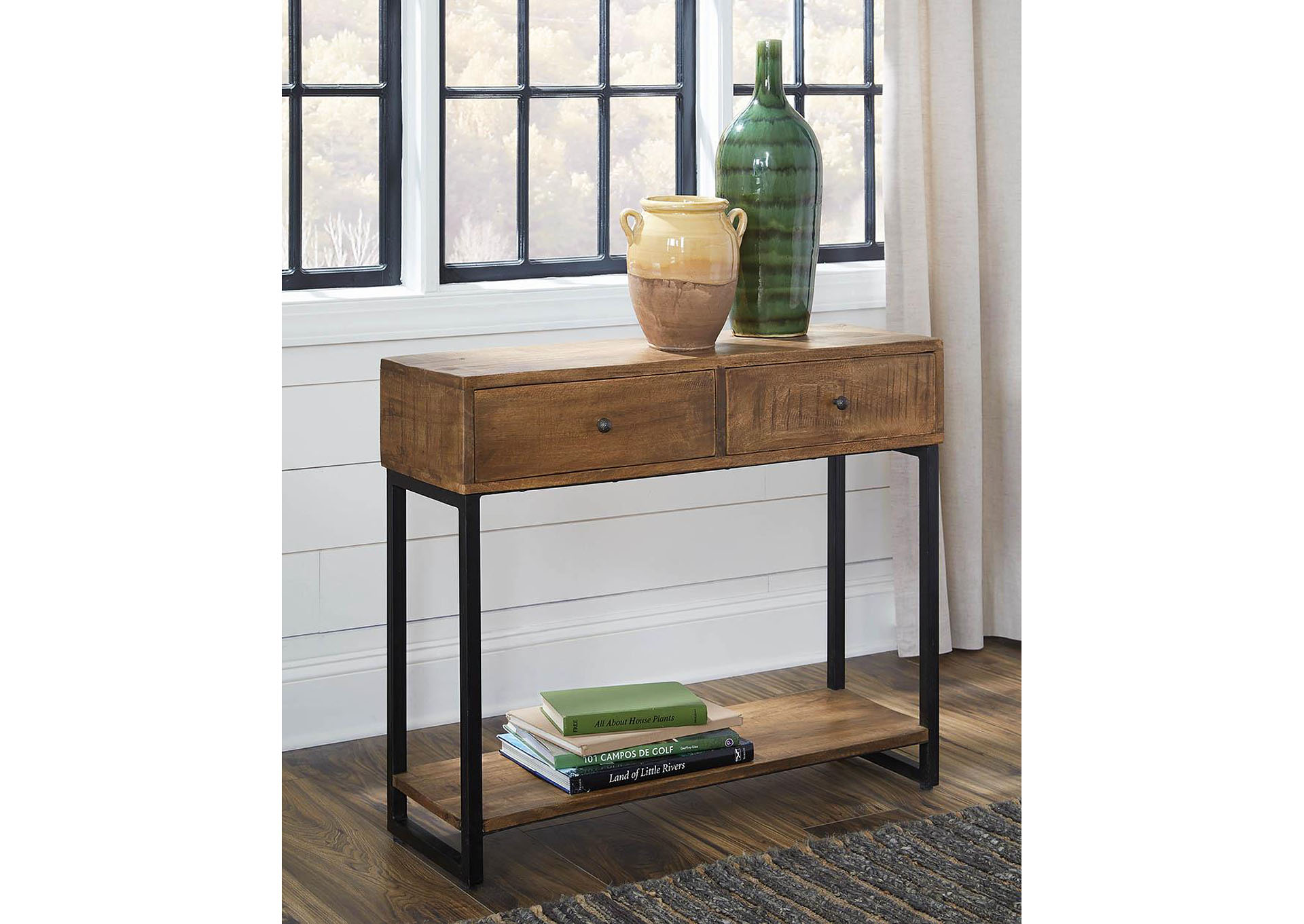 Natural 2-Drawer Console Table,Coaster Furniture