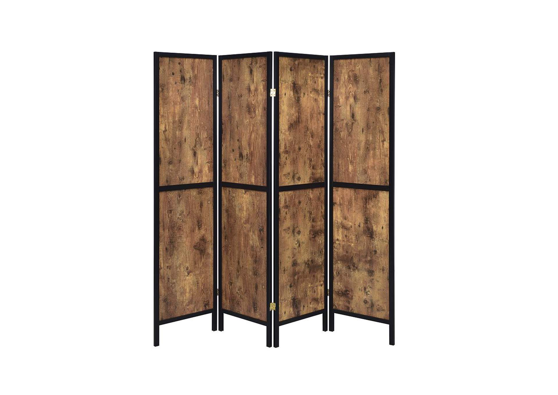 Antique Nutmeg Industrial Antique Nutmeg Four-Panel Screen,Coaster Furniture
