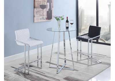 Chrome and Glass Bar Table
