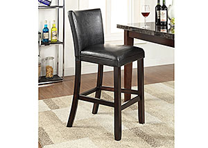 Black & Cappuccino 29'' Counter Height Stool (Set of 2)