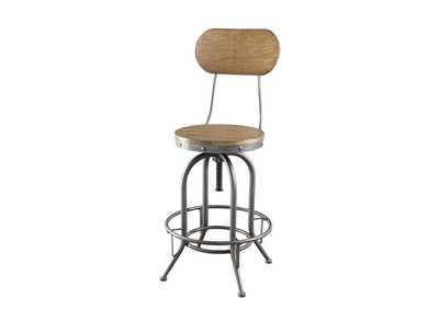 Image for Cultured Pearl Rustic Graphite Bar Stool [Set of 2]