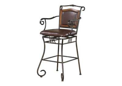 Image for Cultured Pearl Traditional Metal Bar Stool