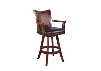 Image for Cocoa Bean Traditional Ornate Brown Bar Stool