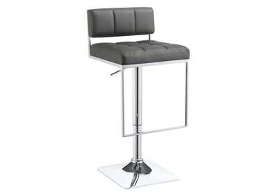 White Lilac Contemporary Grey Adjustable Bar Stool