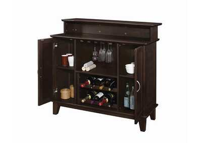 Zeus Transitional Cappuccino Bar Unit,Coaster Furniture