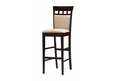Image for Eerie Black Gabriel Cappuccino Exposed Wood Bar Stool [Set of 2]