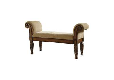Image for Brown Transitional Brown Upholstered Dining Bench