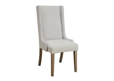 Solomon Beige and Brown Dining Chair (Set of 2)