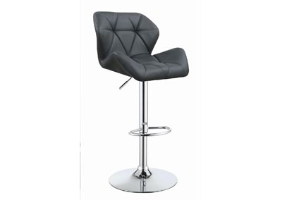 Grey Adjustable Bar Stool (Set of 2)