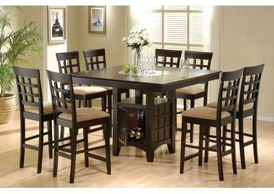 Image for Cappuccino 9 Piece Counter Dining Set W/ 8 Stools