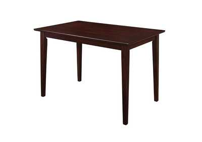 Image for Cappuccino Clayton Cappuccino Rectangular Dining Table