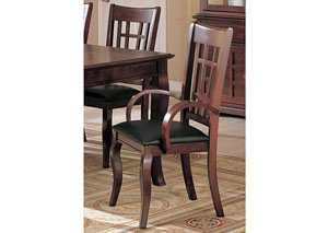 Newhouse Black & Cherry Arm Chair (Set of 2)