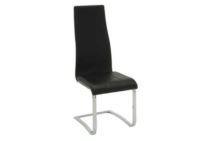 Black and Chrome Dining Chair (Set of 4)